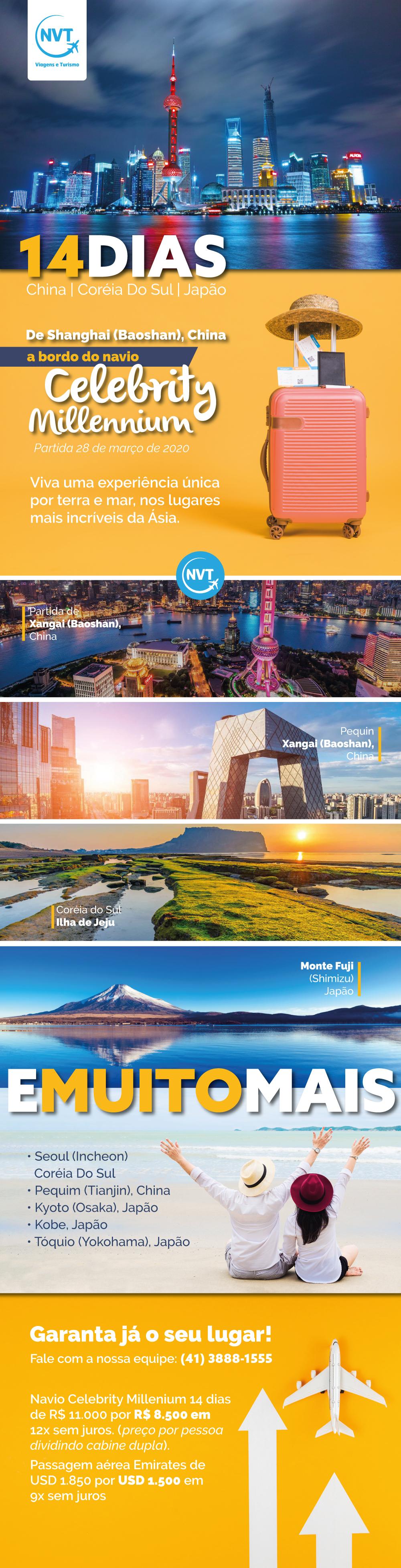 14 dias - China, Coréia do Sul e Japão