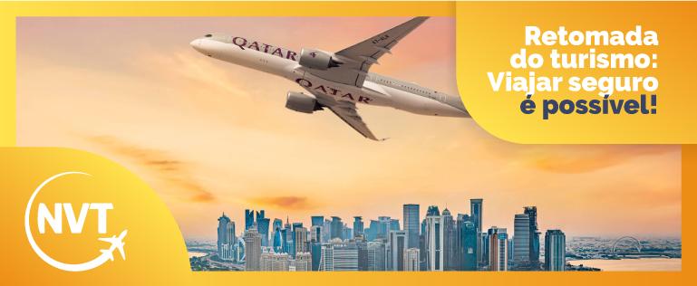Qatar Airways opera primeiro voo do mundo com todos vacinados
